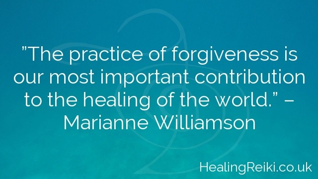 """""""The practice of forgiveness is our most important contribution to the healing of the world."""" – Marianne Williamson"""